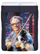 Boyd Tinsley And 2007 Lights Duvet Cover by Joshua Morton