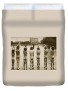 Boys Bathing In The Park Clapham Duvet Cover