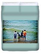 Boys On The Beach Duvet Cover