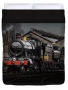 Br Steam Train And Gwr Pannier Tank Duvet Cover