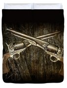 Brace Of Colt Navy Revolvers Duvet Cover