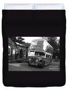 Bradford Bus In Mono  Duvet Cover
