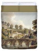 Bradford, From Bath Illustrated Duvet Cover