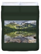 Bradley Lake Reflection - Grand Teton National Park Duvet Cover