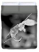 Bramble Leaves - Black And White Duvet Cover