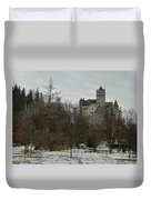 Bran Castle In December Duvet Cover