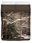 Branch In Forest In Winter Duvet Cover