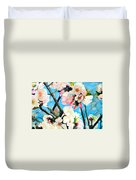 Branches Of Almond Tree Duvet Cover