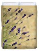 Branches Of Flowering Lavender Duvet Cover