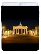 Brandenburg Gate Panoramic Duvet Cover by Melanie Viola