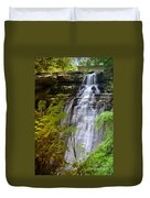 Brandywine Falls Of Cuyahoga Valley National Park Waterfall Water Fall Duvet Cover