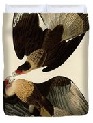Brasilian Caracara Eagle Duvet Cover by Celestial Images