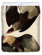 Brasilian Caracara Eagle Duvet Cover