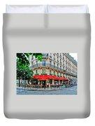 Brasserie De L'isle St. Louis Paris Duvet Cover