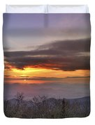 Brasstown Bald At Sunset Duvet Cover
