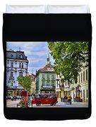 Bratislava Town Square Duvet Cover