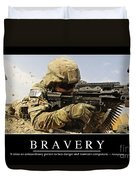 Bravery Inspirational Quote Duvet Cover by Stocktrek Images