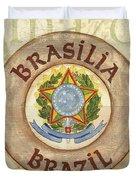 Brazil Coat Of Arms Duvet Cover