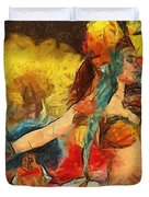 Brazilian Carnival Duvet Cover by Ayse Deniz