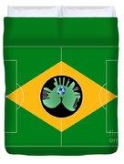 Brazilian Football Field Duvet Cover