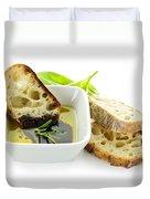 Bread Olive Oil And Vinegar Duvet Cover