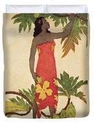 Breadfruit Girl Duvet Cover