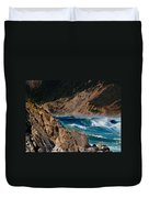 Breakers At Pt Reyes Duvet Cover by Bill Gallagher