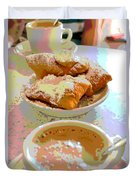 Breakfast Of Champions At Cafe Du Monde Duvet Cover