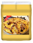 Breakfast Quiche Duvet Cover by Kay Novy