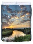 Breaking Dawn Along The Bayou Duvet Cover