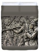Breaking The Advance.  State Of Delaware Monument Detail-l1 Gettysburg Autumn Mid-day. Duvet Cover