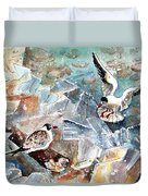 Breaking The Ice On Lake Constance Duvet Cover