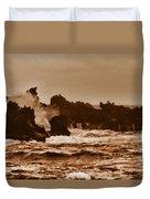Breaking Waves-big Island Hawaii Duvet Cover