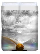 Breathing Life Into A Planet Duvet Cover by Peter R Nicholls