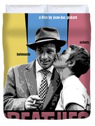 Breathless Movie Poster Duvet Cover