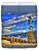 Breckenridge Skies Duvet Cover by Scott Mahon