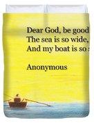 Breton Fisherman's Prayer Duvet Cover