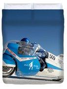 Brett De Stoop On His Suzuki Gt 750 At Speed Duvet Cover