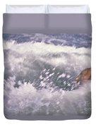 Brian Swimming In The Sea Duvet Cover