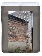 Brick Building Stop Duvet Cover