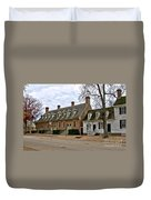 Brick House Tavern In Williamsburg Duvet Cover