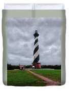 Brick Pathway To The Lighthouse Duvet Cover