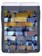 Brick Wall Of A Pottery Kiln Duvet Cover