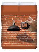Brick Wall Snap Shot Duvet Cover