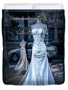 Bridal Dress Window Display In Ottawa Ontario Duvet Cover