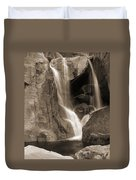Bridalveil Falls In Yosemite Sepia Version Duvet Cover