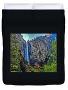 Bridalveil Falls In Yosemite Valley Duvet Cover