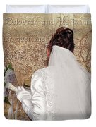 Bride At The Wall Duvet Cover