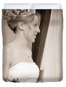 Bride Awaits Her Groom Duvet Cover