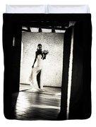 Bride. Black And White Duvet Cover